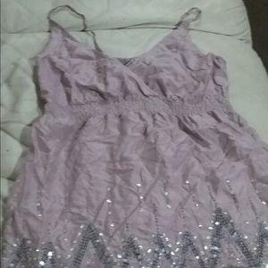 Light purple strap blouse